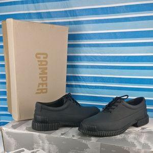 Camper PIX💯%Leather Black Oxford Comfort Shoe 40w